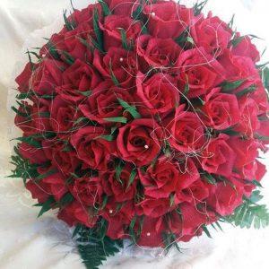 Чудни цветя от креп хартия майстори Нели от Добрич